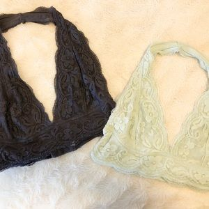 """Charcoal & Mint """"Urban Outfitters"""" Bralettes"""
